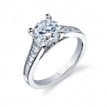 0.66tw Semi-Mount Engagement Ring With 1.50ct Round - sy711 rb