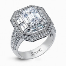 Simon G. 18k White Gold Diamond Engagement Ring - MR2218