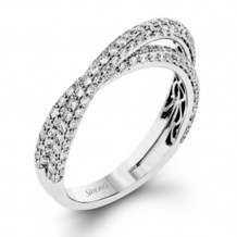 Simon G. 18k White Gold Diamond Wedding Band - MR1577