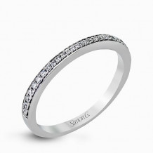 Simon G. 18k White Gold Diamond Wedding Band - MR2551