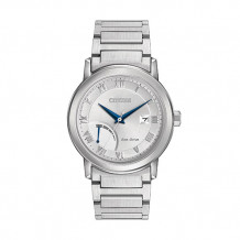 Citizen Eco-Drive Power Reserve Men's White Stainless Steel Watch - AW7020-51A