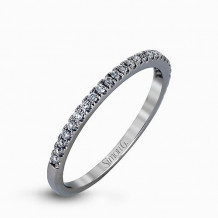Simon G. 18k White Gold Diamond Wedding Band - TR128