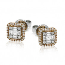 Simon G. 18k Rose Gold Diamond Earrings - LE4452