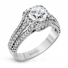 Simon G. 18k White Gold Diamond Engagement Ring - MR1904