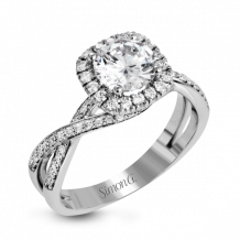 Simon G. 18k White Gold Diamond Engagement Ring - MR1394-A