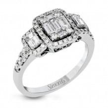 Simon G. 18k White Gold Diamond Engagement Ring - MR2824