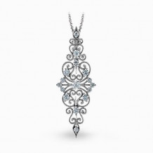 Simon G. 18k White Gold Diamond Pendant - MP2067