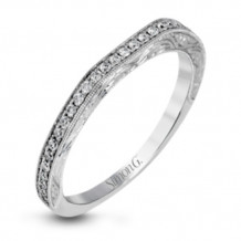 Simon G. 18k White Gold Diamond Wedding Band - MR2693