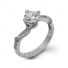 Simon G. 18k White Gold Diamond Engagement Ring - TR427