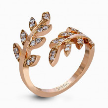Simon G. 18k Rose Gold Diamond Right Hand Ring - LP2309-A