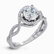 Simon G. 18k White Gold Diamond Engagement Ring - LP2304