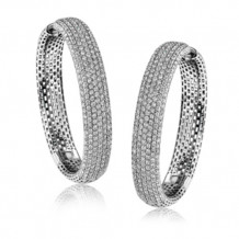 Simon G. 18k White Gold Diamond Earrings - ME1756