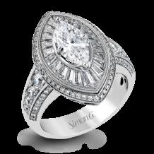 Simon G. 18k White Gold Diamond Engagement Ring - MR2189