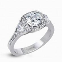 Simon G. 18k White Gold Diamond Engagement Ring - MR2648
