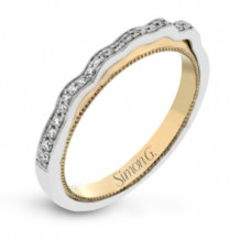 Simon G. 18k White Gold Diamond Wedding Band - MR2931