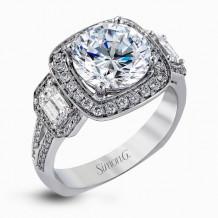 Simon G. 18k White Gold Diamond Engagement Ring - TR396
