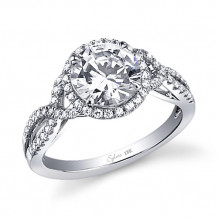 0.36tw Semi-Mount Engagement Ring With 1ct Round Head - sy260