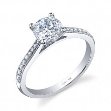 0.13tw Semi-Mount Engagement Ring With 1ct Round Head - sy821