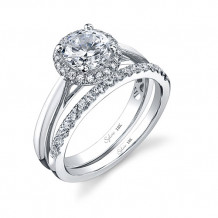 0.14tw Semi-Mount Engagement Ring With 1ct Round Head - sy729
