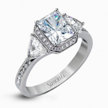 Simon G. 18k White Gold Diamond Engagement Ring - MR2400