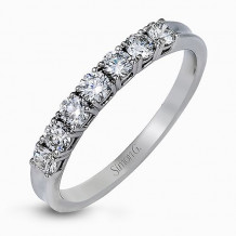 Simon G. 18k White Gold Diamond Wedding Band - MR2068