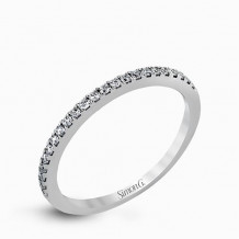 Simon G. 18k White Gold Diamond Wedding Band - MR2556