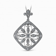 Simon G. 18k White Gold Diamond Pendant - TP302