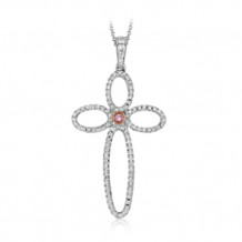 Simon G. 18k White Gold Diamond Pendant - MP2070