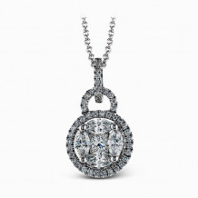 Simon G. 18k White Gold Diamond Pendant - MP1517