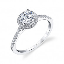 0.24tw Semi-Mount Engagement Ring With 3/4ct Round Head - sy696 rb