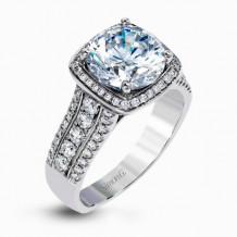 Simon G. 18k White Gold Diamond Engagement Ring - MR2614
