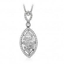 Simon G. 18k White Gold Diamond Pendant - PP155