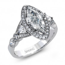 Simon G. 18k White Gold Diamond Engagement Ring - MR2650
