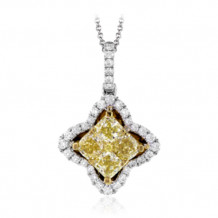 Simon G. 18k White Gold Diamond Pendant - MP1841