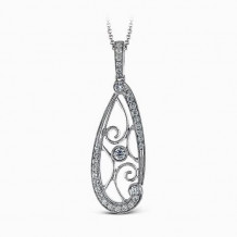 Simon G. 18k White Gold Diamond Pendant - TP303