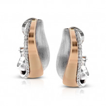 Simon G. 18k Two-Tone Gold Diamond Earrings - ME1577