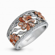 Simon G. 18k White Gold Diamond Ring - DR312