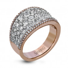 Simon G. 18k White Gold Diamond Ring - MR2619