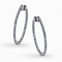 Simon G. 18k White Gold Diamond Earrings - ME1405