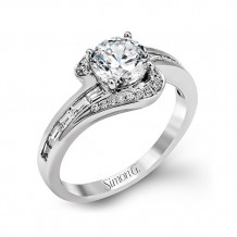 Simon G. 18k White Gold Diamond Engagement Ring - TR566