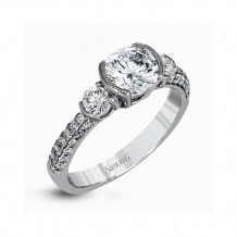 Simon G. 18k White Gold Diamond Engagement Ring - TR569