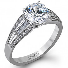 Simon G. 18k White Gold Diamond Engagement Ring - MR2408