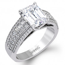 Simon G. 18k White Gold Engagement Ring - MR2497-A
