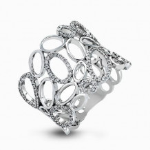 Simon G. 18k White Gold Diamond Ring - MR2258