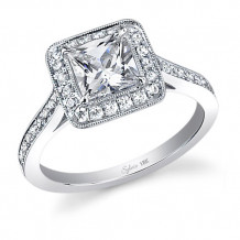 0.38tw Semi-Mount Engagement Ring With 1ct Princess Head - sy310 pr