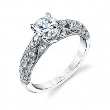 0.41tw Semi-Mount Engagement Ring With 1ct Round Head - s1239
