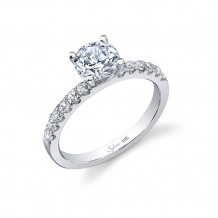 0.28tw Semi-Mount Engagement Ring With 1ct Rb Head - sy761