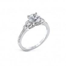 Simon G. 18k White Gold Diamond 3 Stone Engagement Ring - MR2845