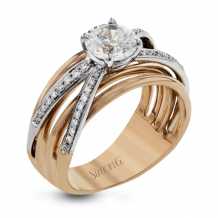 Simon G. 18k Two-Tone Gold Diamond Engagement Ring - LR1040