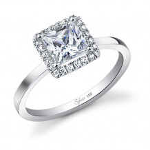 0.27tw Semi-Mount Engagement Ring With 1ct  Princess Head - sy293 pr